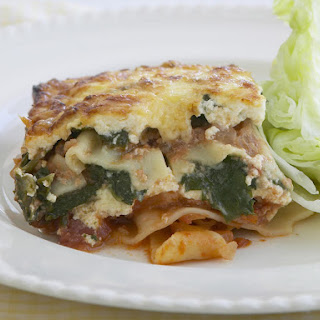 Spinach, Ricotta and Mushroom Lasagna