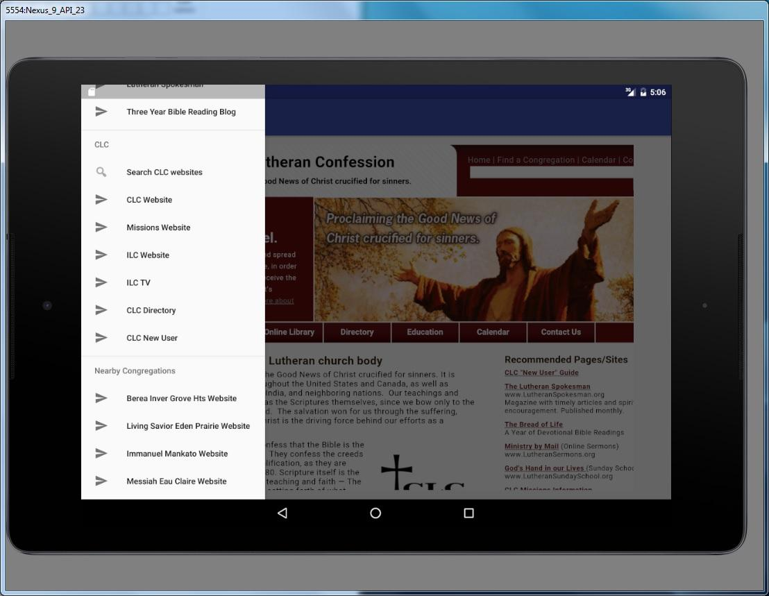 Grace Lutheran Church- screenshot