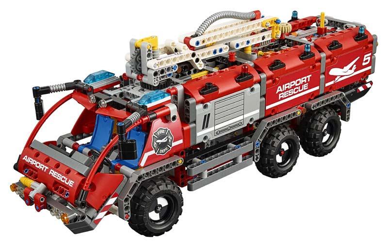 Contenido de Lego® Vehículo de Rescate Aeroportuario