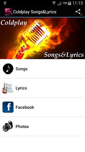 Coldplay Songs Lyrics
