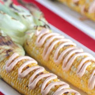 Creamy Taco Grilled Corn on the Cob.