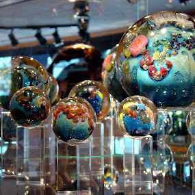 Maine Shop Reflections by Elaine Tweedy - Artistic Objects Other Objects ( glass art, glass balls, blown glass )