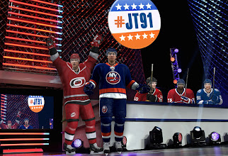 Photo: Exclusive photo of #Canes' Jeff Skinner announcing his endorsement of #JT91 for #NHL13Cover.