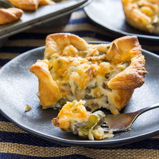Green Bean Casserole Crescent Cups