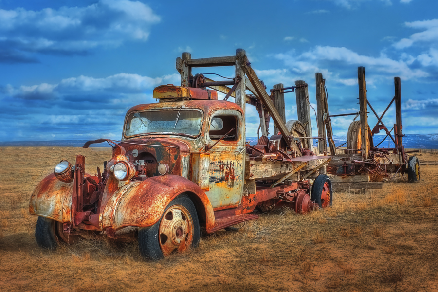 Ghost Truck by Rob Newbould - Transportation Other ( mining, old truck )