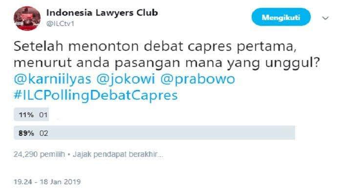 poling twitter Capres