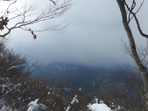 810m峰(雪が近づく)