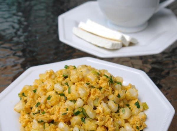 Mexician Hominy And Scramble Eggs Or Mote Pillo Recipe