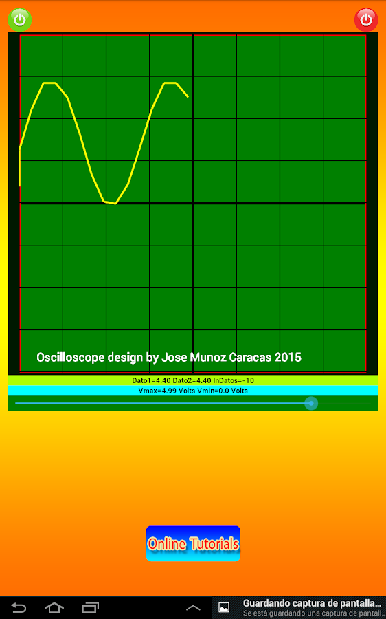 Bluetooth Oscilloscope- screenshot