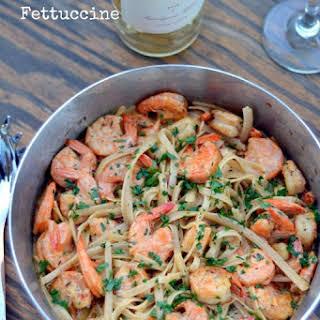 Cajun Shrimp Fettuccine.