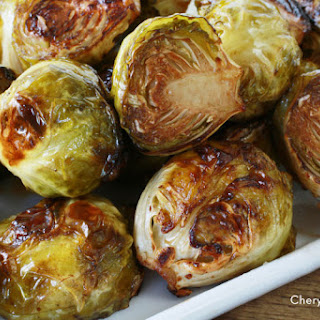 balsamic vinegar roasted Brussels sprouts.