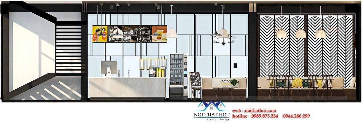 thiết kế quán trà sữa cafe và siêu thị 11