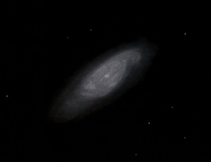 Photo: NGC6503 dans la constellation du Dragon. T406 à 220X, Restefond 2016.