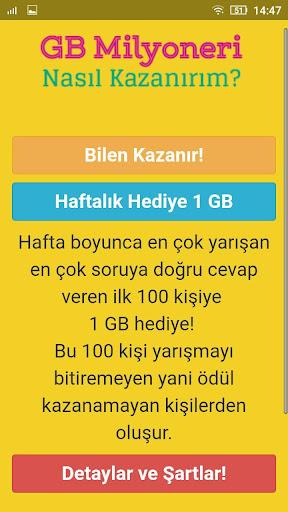 1 GB Kazan - Bedava u0130nternet Paketi 1.0.0 screenshots 3