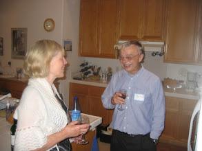 Photo: Lillian Saari and Professor Ted Bergstrom