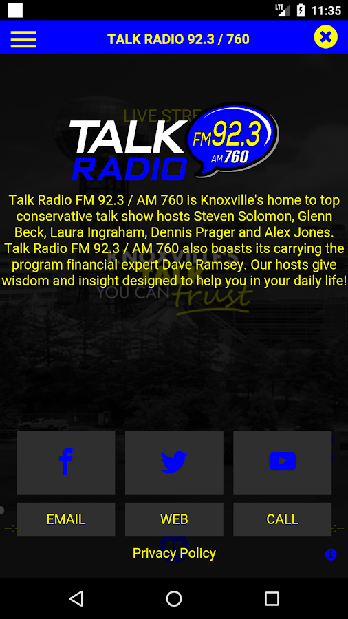 Talk Radio 92.3/760- screenshot
