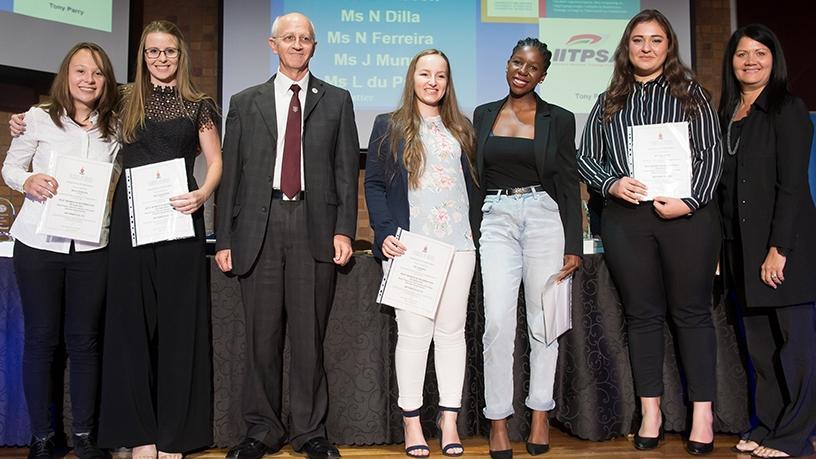 Winners of the Women in IT award.
