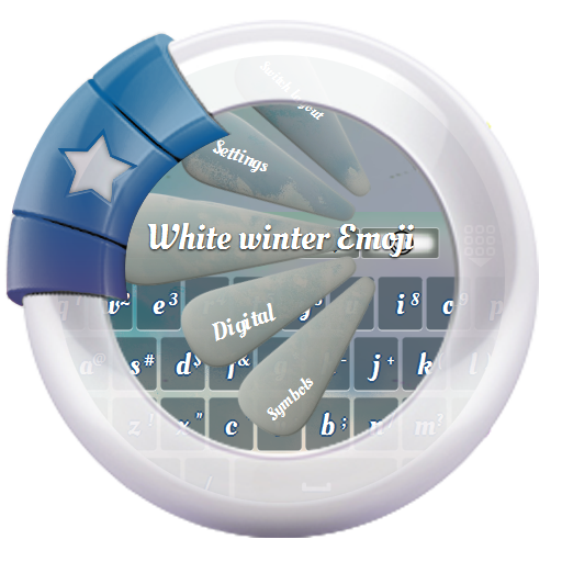 White winter GO Keyboard 個人化 App LOGO-APP試玩