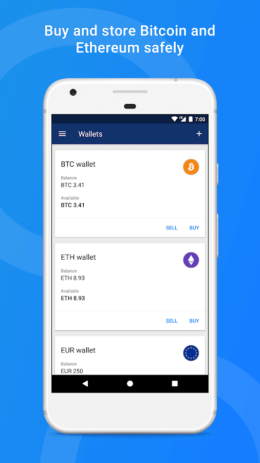 Luno Bitcoin Wallet Screenshot