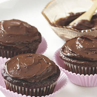 Chocolate Cupcakes with Chocolate-Orange Frosting.