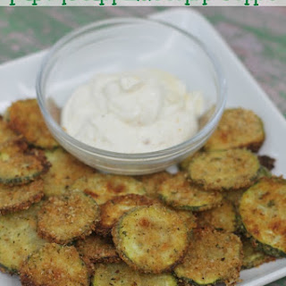 {Oven Baked} Parmesan Zucchini Chips.