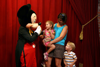 Photo: Meeting Mickey Mouse