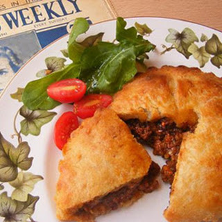 War-time Meat Pies With Mashed Potato Pastry.