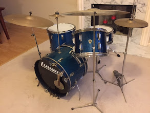 Photo: 1958 WFL New Yorker (with added floor tom)  its in pieces now being refurbished and period specific heads added.  Some have the brass WFL badge and some have the transition badge.  It's from the year I was born !