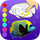 3D Coloring App Dancing Fishes icon