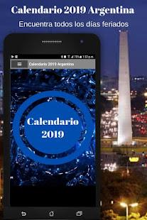 Calendario 2019 Argentina Con Feriados Gratis Google Play Programos