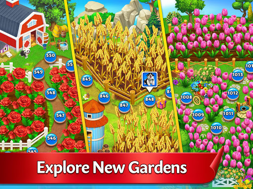 Solitaire Garden - TriPeaks Story android2mod screenshots 8