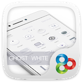 Ghost White Go Launcher Theme