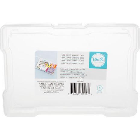 We R Craft & Photo Translucent Plastic Storage 4X6