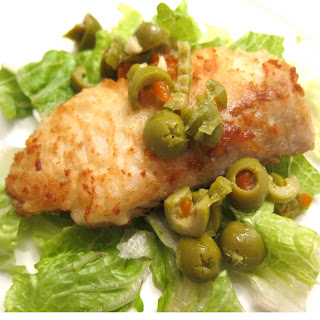 Haddock with Olive Sauce.