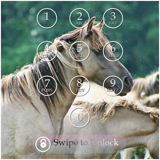 Horse Keypad Lock Screen