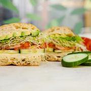 Avocado Pepper Jack Half Sandwich