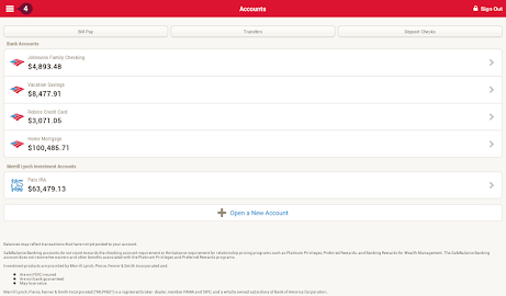 Bank of America Screenshot 1