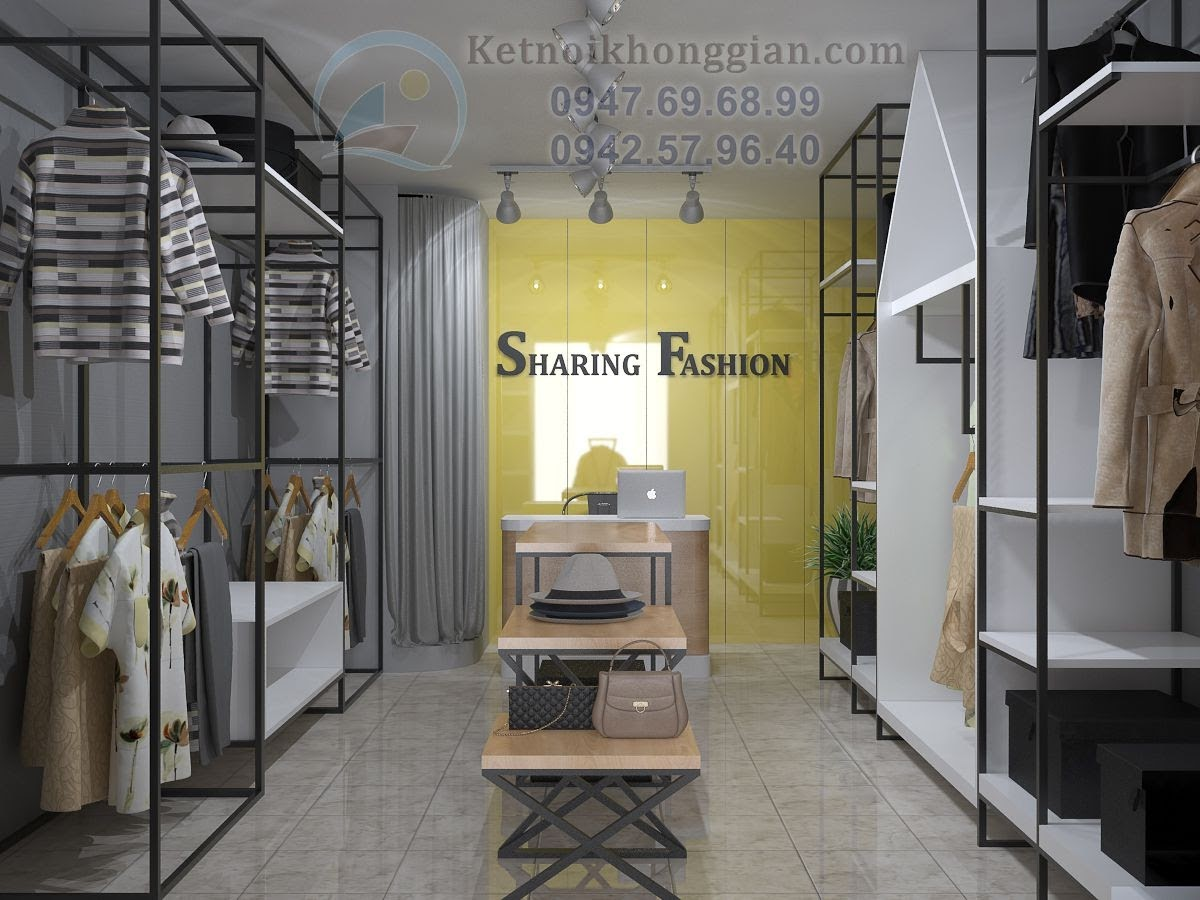 thiết kế shop quấn áo sáng tạo ở Hà Nội