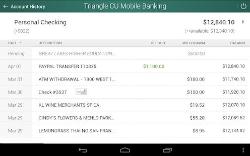 Triangle Credit Union- screenshot thumbnail