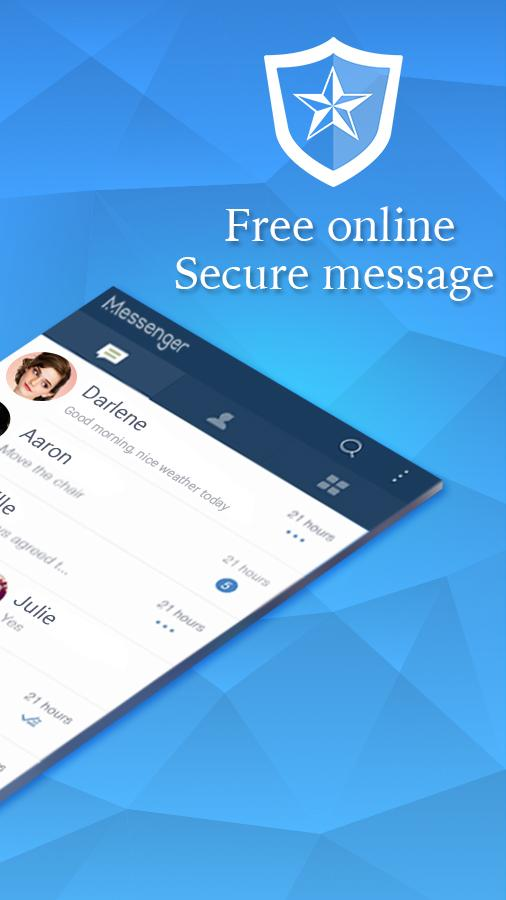 Privacy Messenger - Secured text, SMS, Call screen- screenshot