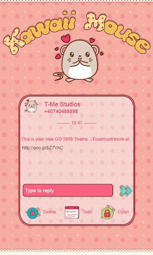 Kawaii Mouse GO SMS
