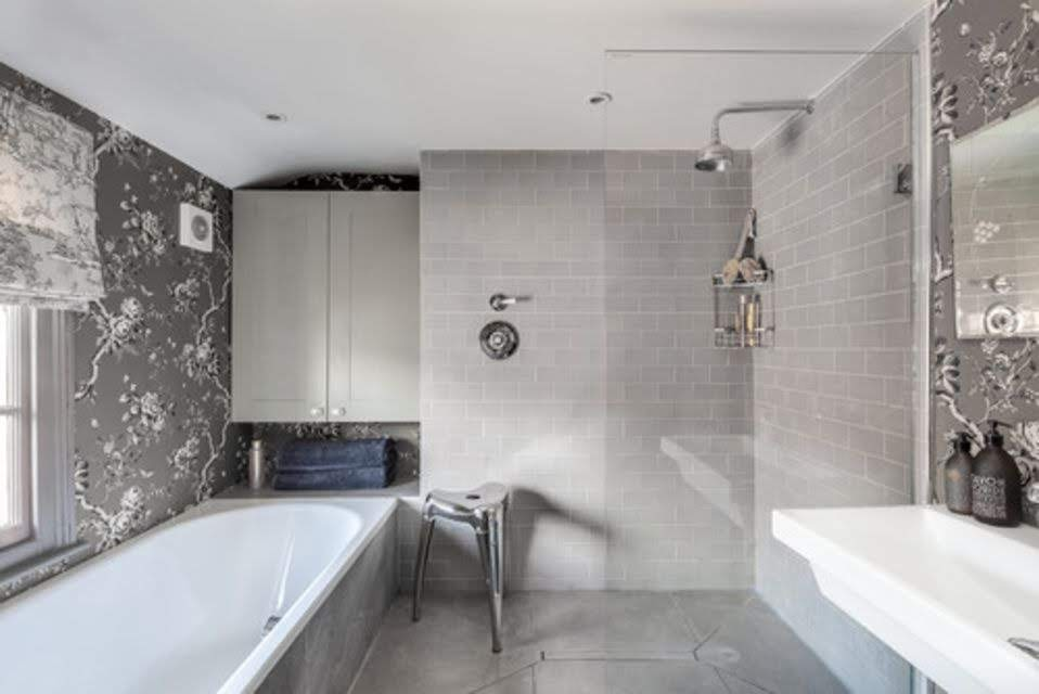 grey and white bathroom pictures