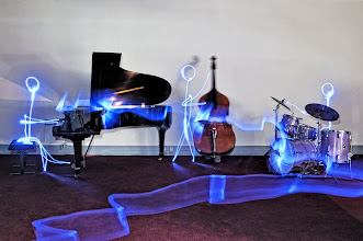 Photo: Jazz Band - Light painting by Christopher Hibbert, french photographer and light painter. Further information: http://www.christopher-hibbert.com