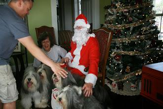 Photo: Jason helped everyone get set up for their Santa visit