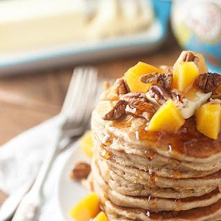 Peach Pecan Pancakes