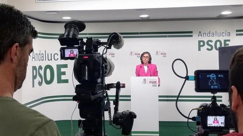 La portavoz adjunta del Grupo Parlamentario Socialista, Rosa Aguilar.