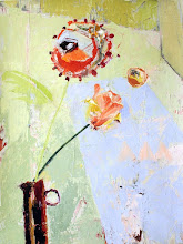 """Photo: """"Something About a Tulip""""; 25 x 18""""; acrylic on paper mounted on panel; 2016"""