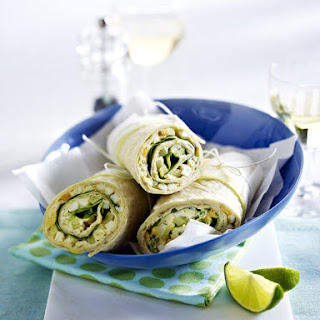 Egg and Salad Wraps.