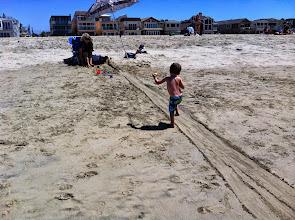 Photo: Finn's Ball Track at Grandma's Beach