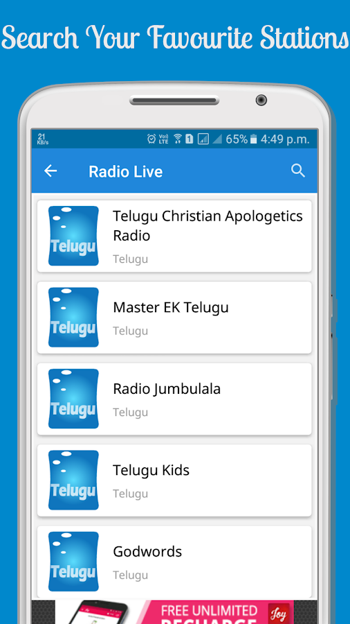 500+ Online FM Radio Stations- screenshot